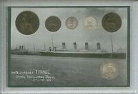 The Sinking of Titanic Vintage Maiden Voyage Antique British Coin Gift Set 1912