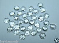 10Pcs/0.10Cts Natural Real G Color VVS White Round Rose Cut Diamond Lot 1.3 MM