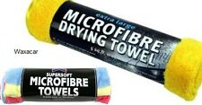 3 Interior & Exterior Cleaning Microfibre Cloths & Large Microfiber Drying Towel