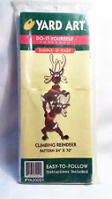 "1998 Christmas Yard Art DIY Wood Cut Out Project Climbing Reindeer 24x70"" Big"