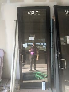 Storefront/Commercial glass door 36x96 black (6 available)