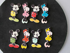 8 WOOD FRIDGE MAGNETS  MICKEY/MINNIE MOUSE SHAPED MIXED  RANDOM