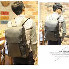 Men's Leather Outdoor Backpack Camping bags Boys Travel Black Rucksack bag
