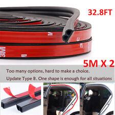 10M B-Shape Type Trim Rubber Strip Universal Car Door Edge Seal Weather-strip