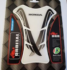 "ORBITAL TANK PROTECTOR GEL PAD - HONDA - CLEAR/BLACK STRIPES - 5.1"" x 6.3"""