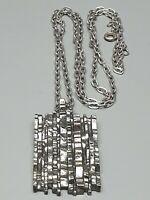 Massiver Silber Anhänger Modernist 60th 835 Silber & 835 Silber Ankerkette /A160