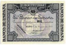 ☆ SPAIN CIVIL WAR 1937 • 1000pts BILBAO • EUZKADI ☆ GUERRA CIVIL ESPAÑOLA ☆C3329