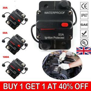 Car Circuit Breaker Fuse Reset 30-200 Amp 12V-48V DC Car Boat Auto Waterproof UK