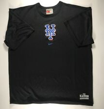 New York Mets Black Nike Fit Dry Shirt Size Large 2009