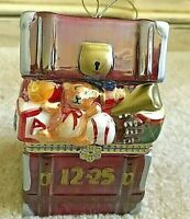 Mr. Christmas Porcelain Music Box - chest filled with toys