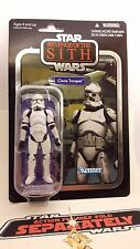 "STAR Wars Vintage Collection vc15 Clone Trooper 2010 RARA FOIL card""""."