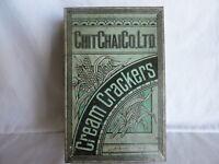 Chit Chai Co. Ltd. Vintage Cream Crackers Tin Box Made in Thailand