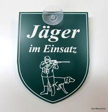 Jäger,Jagd,Jagen,Jäger im Einsatz,m. Sauger,9 x 7 cm,Gravurschild,Hund,Keiler,