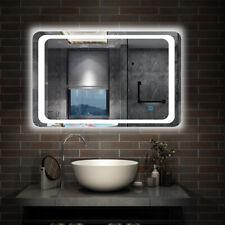 Illuminated Bathroom Mirror with Demister Over Bathroom Sink White LED Light