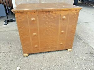Copper coal box with liner. Lovely
