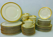 SYRACUSE china BRACELET pttrn 56-piece SET SERVICE for Twelve (12) less 4 salads