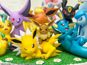 Pokemon G.E.M.EX Series Eevee Friends Painted Figure Megahouse eievui