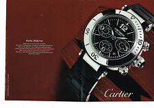 PUBLICITE ADVERTISING 094  2008  CARTIER  montre PASHA SEATIMER  ( 2 p)