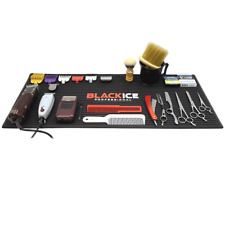 Barber mat, Barber station mat, Anti slip mat, Black ICE professional mat, Black