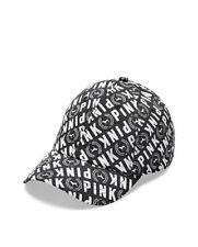 Vs Victorias Secret Pink Sport Clip Baseball Hat Cap Black & White Dog Logo