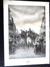 litho éclaireurs de la Seine siège de Paris 1870 peuple enfants Leleux graveur