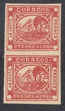 Argentina Buenos Aires 1858 - 4P Red Pair - Reprint Probably - SG P7 - MNH (D2H)