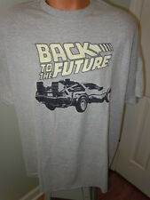 Back To The Future Mens T-Shirt Size Xl DeLorean Car Gray Short Sleeves