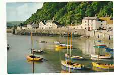 Unused Arthur Dixon Postcard  Somerset, Boats in the Harbour at Minehead