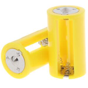 2PC 3AA to D Parallel Adapter Battery Holder Converter Adapter Switcher CasR*H1
