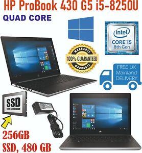 HP ProBook 430 G5 i5-8250U 8th Gen 1.60GHz 16GB RAM 256GB SSD Win 10