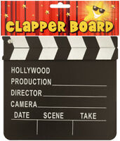 Small Wooden Clapper Board - Hollywood Film Party Production Director Black