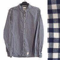 Superdry Vintage Mens Shirt XXL Blue Check 2XL Collar Long Sleeve Pocket Flannel