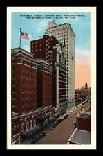 DR JIM STAMPS US POSTCARD COMMERCE STREET LOOKING EAST DALLAS TEXAS