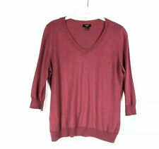 Talbots Womens Pullover Sweater Size Large Petite Silk Blend Berry Pink $186