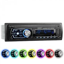 AUTORADIO CON BLUETOOTH VIVAVOCE 7 COLORI USB SD AUX MP3 SINGOLO 1DIN SENZA CD