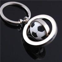 Football Gift Chain Keyfob Keyring Rotating Soccer Keychain