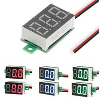 2pcs Mini DC 0-100V 0.36inch LED 3-Digital Display Voltage Voltmeter Panel Meter
