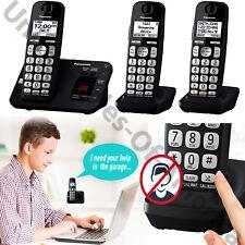 Cordless Phone System 3 Handset Answer Machine Call Block Baby Monitor Panasonic
