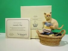 Lenox Laundry Day Kitty Cat sculpture New in Box with Coa kitten