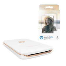 HP Sprocket Plus 2FR85A - Weiß Zink mobiler Fotodrucker Android/Apple Bluetooth