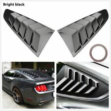 2x Rear Quarter Side Vents Window Louver Shield Cover For 2015-2017 Ford Mustang