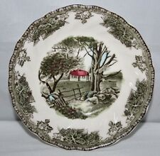 """Johnson Brothers - The Friendly Village - The Stone Wall - 5 1/4"""" Dessert Bowl"""