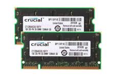 Crucial 2GB 2X 1GB DDR PC2700 DDR333MHz 200pin SODIMM Laptop Notebook Memory RAM
