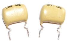 2 Condensateurs MULLARD MUSTARD KT NEUFS 22nF - 250V - 0.022uF - 22000pF