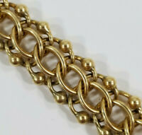 Vintage 14K Gold ~BEADED CHARM or not BRACELET~ 25 grams 7 inch