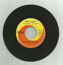 BEACH BOYS Here Today, orig Capitol 45 rpm vinyl record, 1967, G+, Pet Sounds