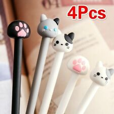 4Pcs/Set Kawaii Cat Gel Pen Claw Black Ink Pens Writing Stationery Students Pen