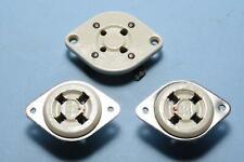 (3) vtg 4 Pin Vacuum Tube Sockets NOS Ceramic