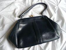 VINTAGE Navy Blue Kelly Bag Rockabilly 1960's