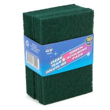 10pk Scouring Pad Scrubbers Tough Cleaning Jobs Home Kitchen Cleaning Supplies
